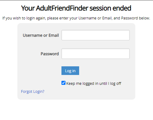 AdultFriendFinder Session