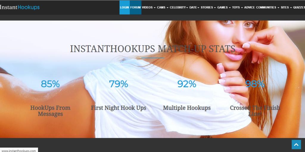 Instant Hookups Login Page