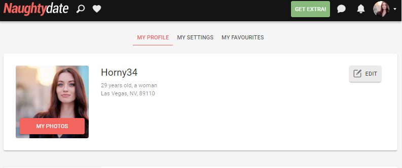 my profile on naughtydate