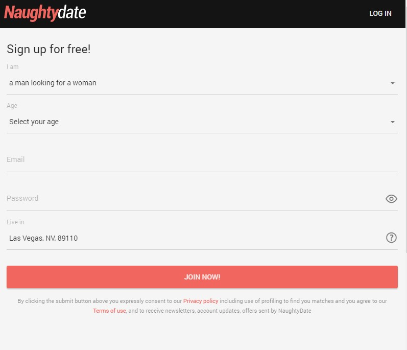 naughtydate signup