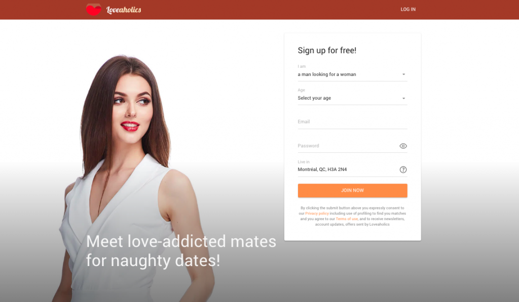 Loveaholics sign up