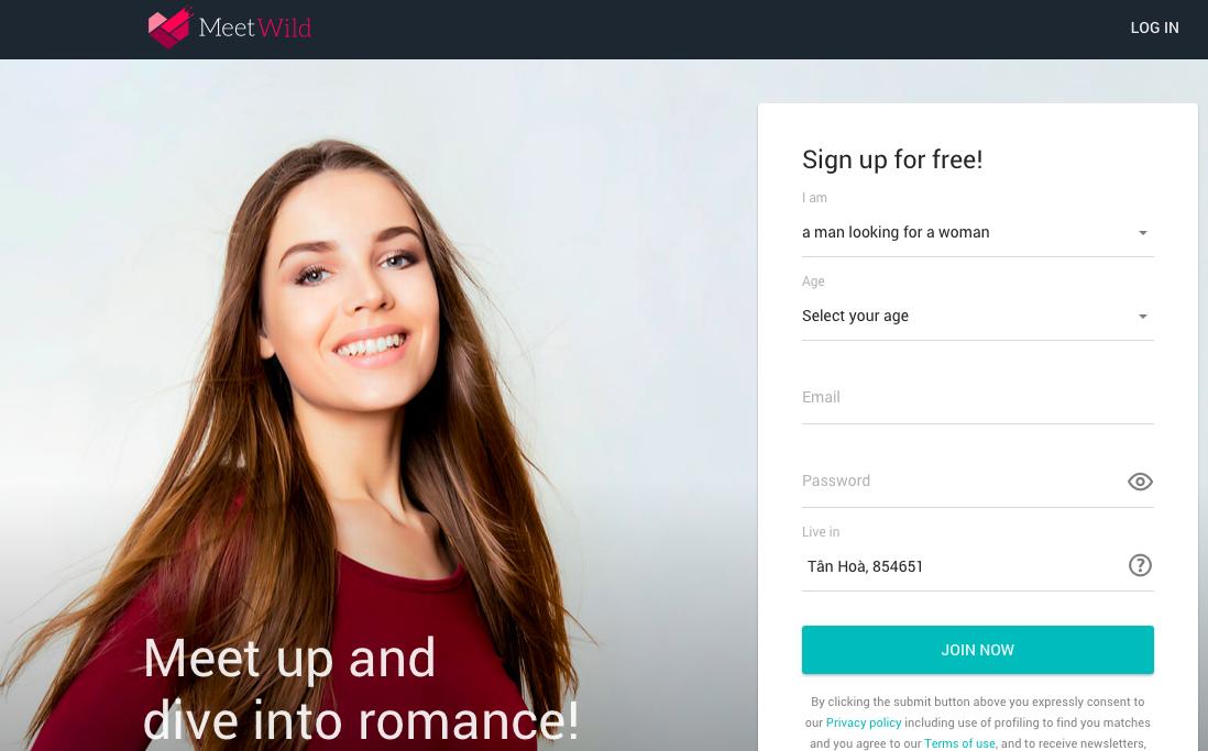 MeetWild Sign Up